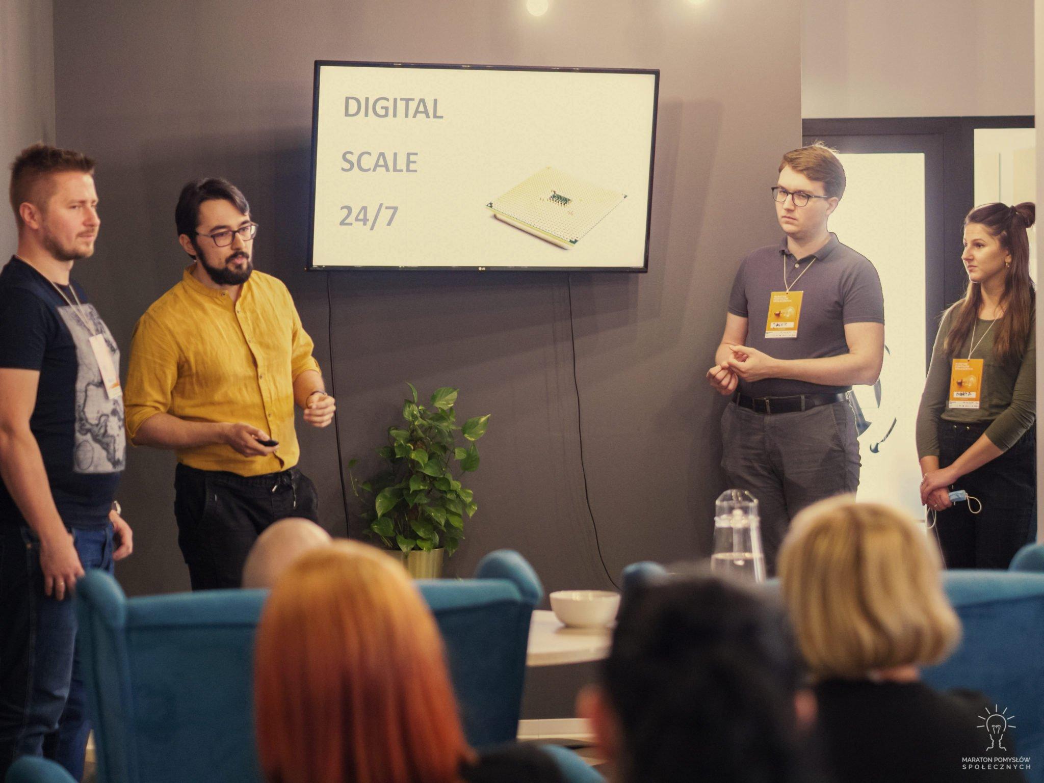 Prezentacja zespołu Reflex podczas Maratonu Pomysłów Społecznych